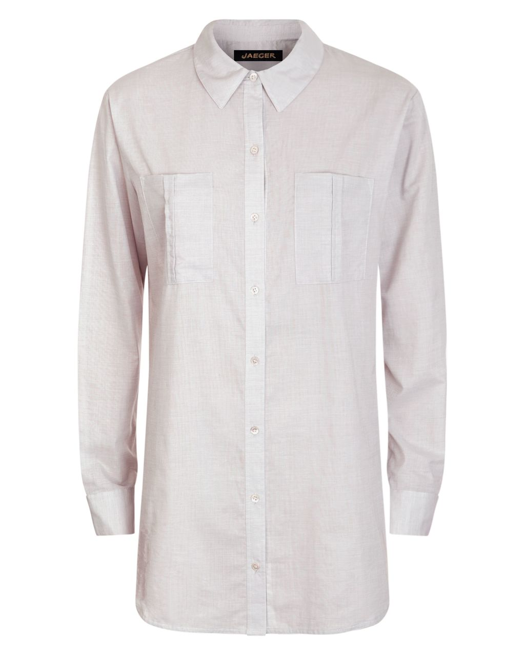 Cotton Oversized Shirt, White - neckline: shirt collar/peter pan/zip with opening; pattern: plain; length: below the bottom; style: shirt; predominant colour: ivory/cream; occasions: casual, creative work; fibres: cotton - 100%; fit: body skimming; sleeve length: long sleeve; sleeve style: standard; texture group: cotton feel fabrics; pattern type: fabric; multicoloured: multicoloured; season: s/s 2016; wardrobe: basic
