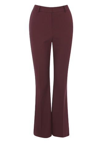 Womens Kick Flare Trousers, Port, Port - length: standard; pattern: plain; waist: high rise; predominant colour: burgundy; fibres: cotton - stretch; fit: flares; pattern type: fabric; texture group: woven light midweight; style: standard; occasions: creative work; season: s/s 2016; wardrobe: highlight