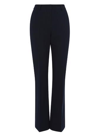 Womens Kick Flare Trousers, Navy, Navy - length: standard; pattern: plain; waist: high rise; predominant colour: navy; occasions: work; fibres: cotton - stretch; fit: flares; pattern type: fabric; texture group: woven light midweight; style: standard; season: s/s 2016