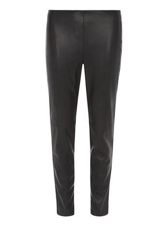 Womens Dorothy Perkins Black Soft Leather Look Treggings, Black - length: standard; pattern: plain; waist: mid/regular rise; predominant colour: black; occasions: evening; fibres: polyester/polyamide - 100%; texture group: leather; fit: skinny/tight leg; pattern type: fabric; style: standard; season: s/s 2016; wardrobe: event