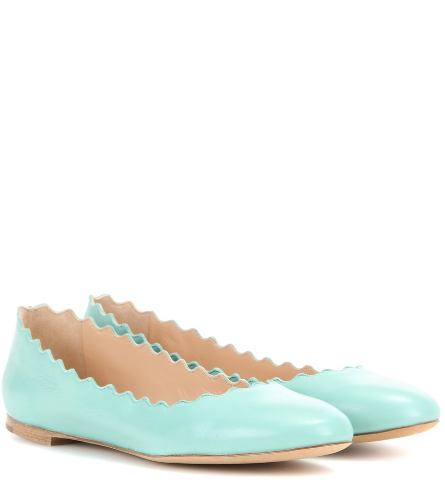 Lauren Leather Ballerinas - predominant colour: pale blue; occasions: casual; material: leather; heel height: flat; toe: round toe; style: ballerinas / pumps; finish: patent; pattern: plain; season: s/s 2016; wardrobe: highlight