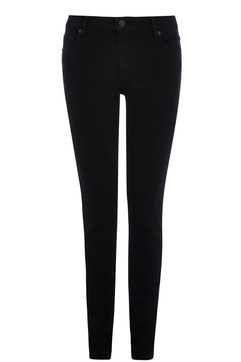Powerhold Skinny Jean, Black - style: skinny leg; length: standard; pattern: plain; pocket detail: traditional 5 pocket; waist: mid/regular rise; predominant colour: black; occasions: casual; fibres: cotton - stretch; texture group: denim; pattern type: fabric; season: s/s 2016; wardrobe: basic