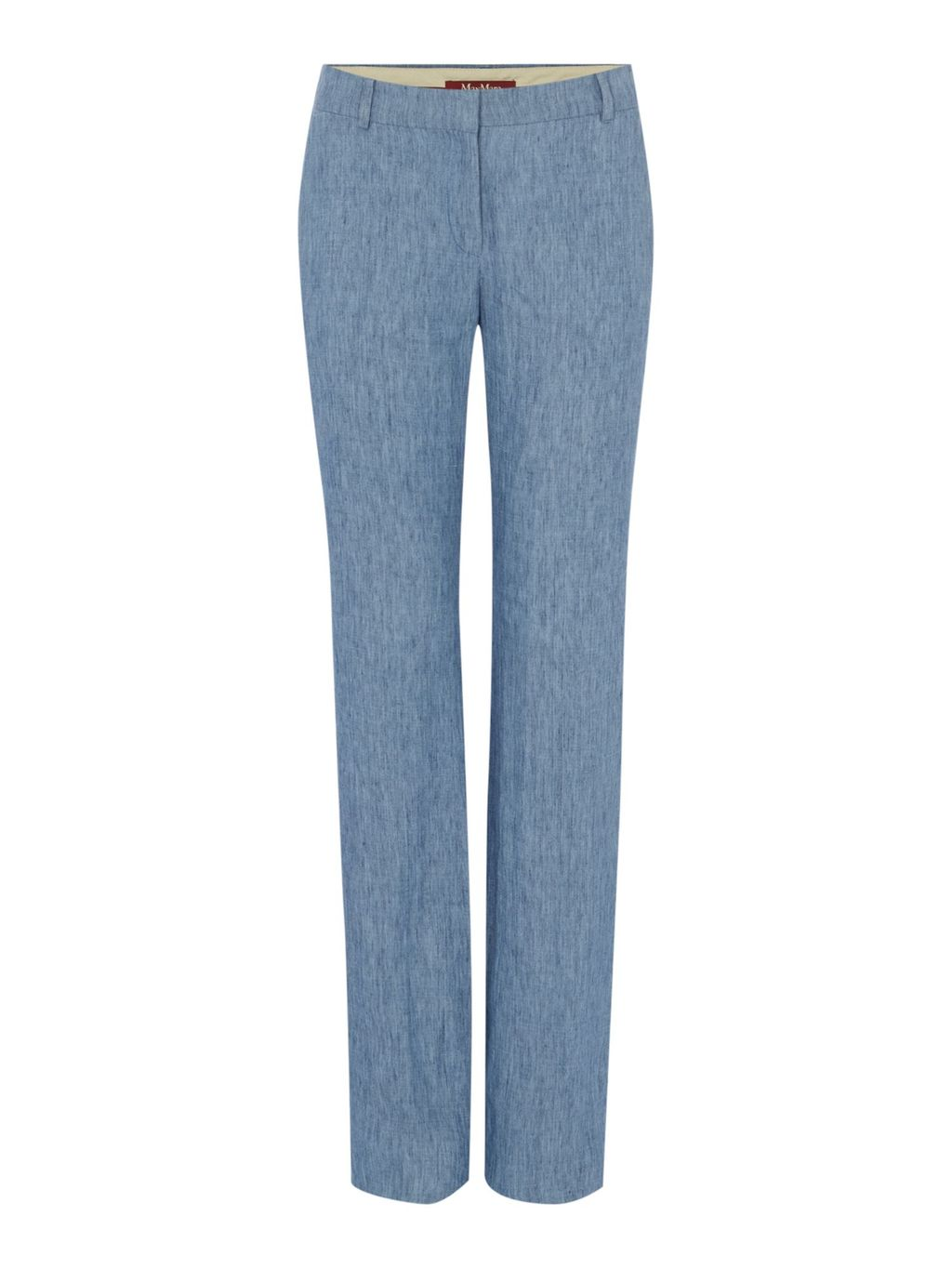 Afoso Denim Effect Trousers, Blue - length: standard; pattern: plain; waist: high rise; predominant colour: denim; fit: straight leg; pattern type: fabric; texture group: woven light midweight; style: standard; fibres: viscose/rayon - mix; occasions: creative work; season: s/s 2016; wardrobe: highlight