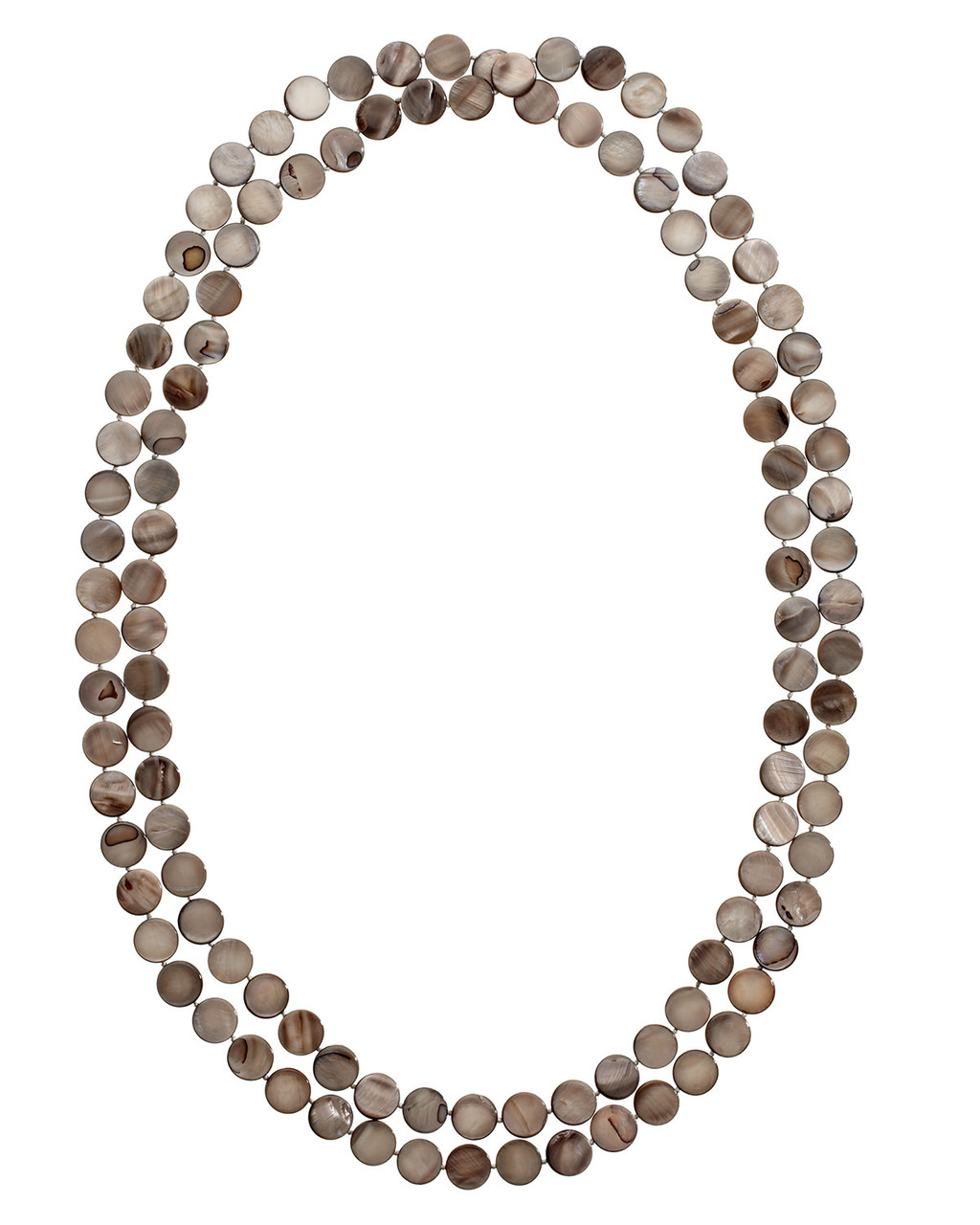 Sylvie Necklace - predominant colour: taupe; occasions: evening; style: multistrand; length: long; size: large/oversized; material: plastic/rubber; finish: plain; embellishment: beading; season: s/s 2016