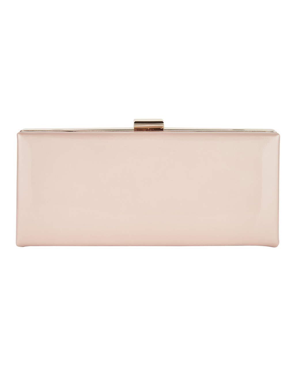 Amara Leather Clutch - predominant colour: blush; occasions: evening, occasion; type of pattern: standard; style: clutch; length: hand carry; size: small; material: leather; pattern: plain; finish: plain; season: s/s 2016; wardrobe: event