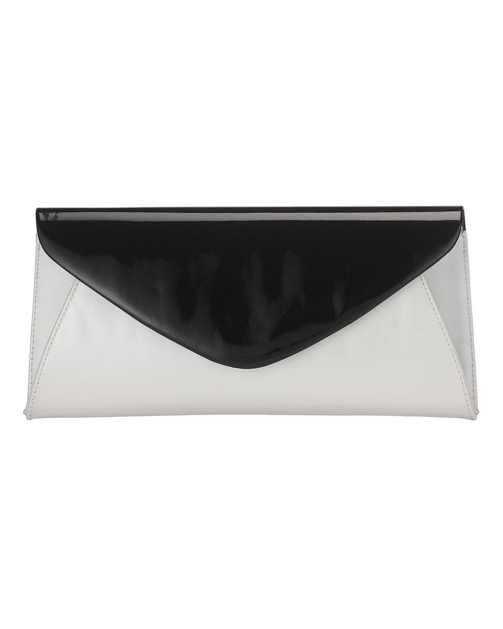 Sammy Leather Clutch - secondary colour: light grey; predominant colour: black; occasions: evening, occasion; type of pattern: standard; style: clutch; length: hand carry; size: standard; material: leather; finish: plain; pattern: colourblock; season: s/s 2016; wardrobe: event