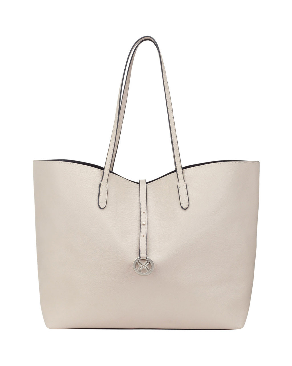 Cali Shopping Tote - predominant colour: light grey; occasions: casual, creative work; type of pattern: standard; style: tote; length: handle; size: standard; material: leather; pattern: plain; finish: plain; season: s/s 2016; wardrobe: investment