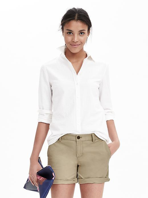 Chino Roll Up Short Workwear Khaki - pattern: plain; waist: mid/regular rise; predominant colour: stone; occasions: casual, holiday; fibres: cotton - stretch; hip detail: fitted at hip (bottoms); texture group: cotton feel fabrics; pattern type: fabric; season: s/s 2016; style: tailored shorts; length: short shorts; fit: slim leg