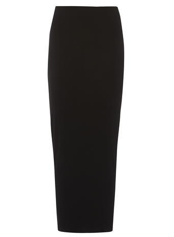 Womens **Tall Black High Waisted Tube Skirt Black - pattern: plain; style: pencil; length: ankle length; fit: tailored/fitted; waist: high rise; predominant colour: black; fibres: viscose/rayon - stretch; texture group: jersey - clingy; pattern type: fabric; occasions: creative work; season: s/s 2016; wardrobe: basic