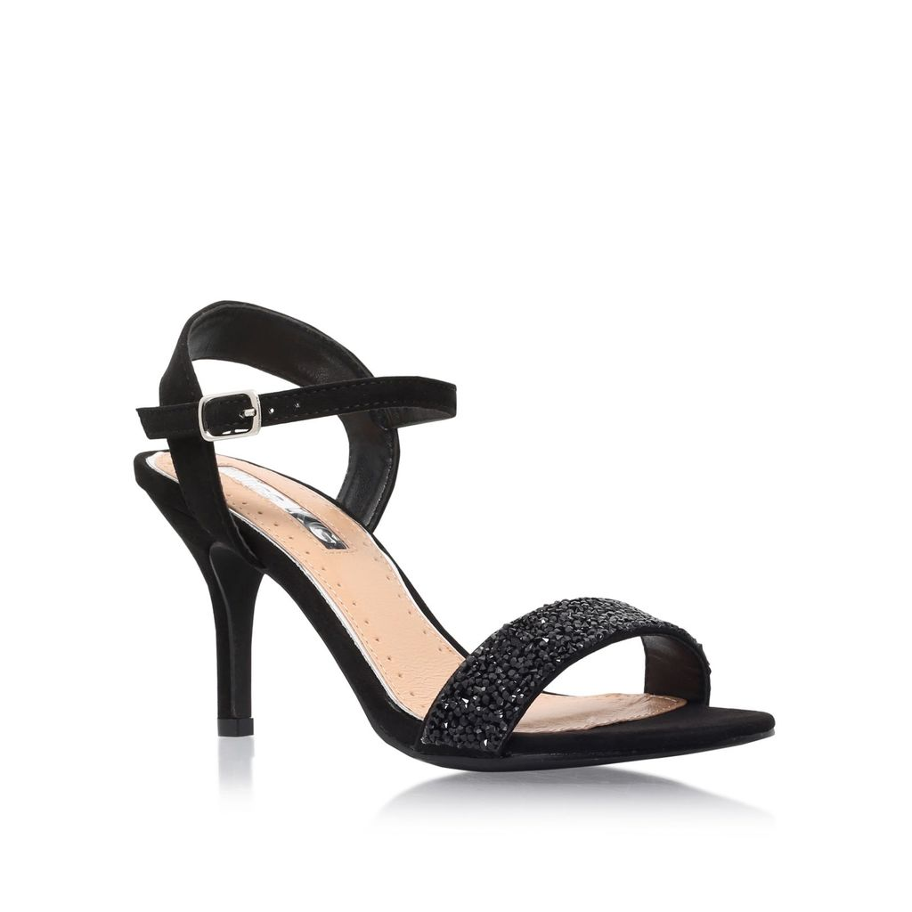 Poison High Heel Sandals, Black - predominant colour: black; occasions: evening; material: leather; heel height: mid; heel: stiletto; toe: open toe/peeptoe; style: strappy; finish: plain; pattern: plain; season: s/s 2016; wardrobe: event