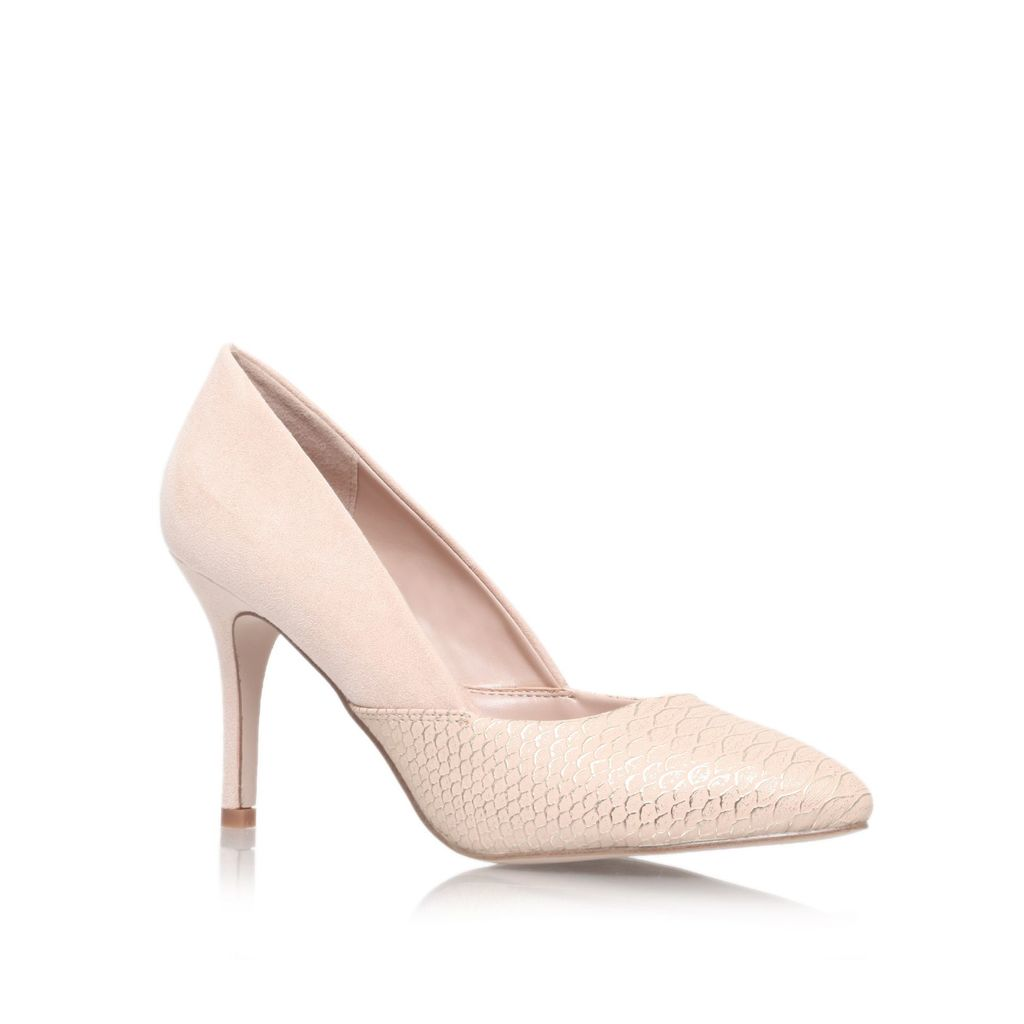 Savannah High Heel Court Shoes, Nude - predominant colour: nude; occasions: evening, occasion; material: faux leather; heel height: high; heel: stiletto; toe: pointed toe; style: courts; finish: plain; pattern: plain; season: s/s 2016; wardrobe: event