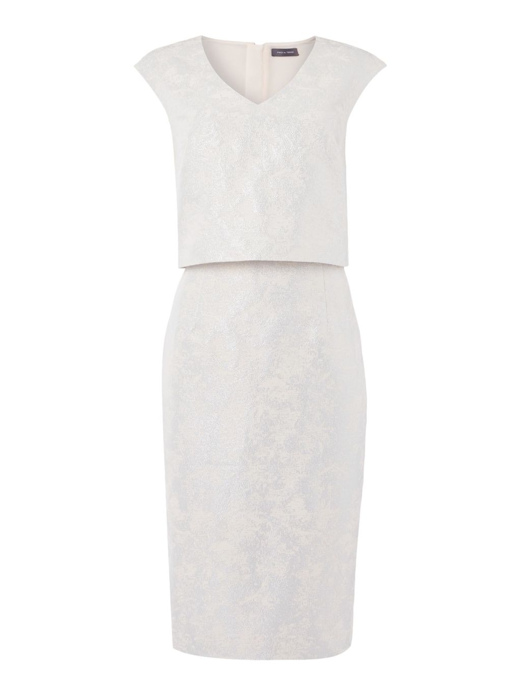 Lace Cindy, Grey - style: shift; neckline: v-neck; sleeve style: capped; fit: tailored/fitted; predominant colour: light grey; length: just above the knee; fibres: polyester/polyamide - mix; occasions: occasion; sleeve length: short sleeve; texture group: lace; pattern type: fabric; pattern: patterned/print; embellishment: lace; season: s/s 2016; wardrobe: event