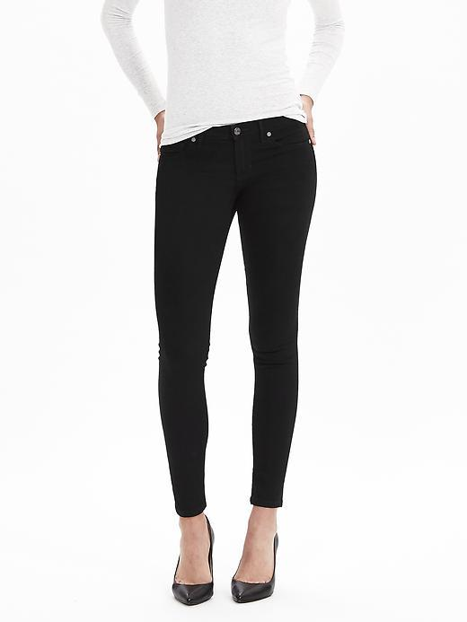 Black Skinny Ankle Jean Black - style: skinny leg; length: standard; pattern: plain; pocket detail: traditional 5 pocket; waist: mid/regular rise; predominant colour: black; occasions: casual, evening, creative work; fibres: cotton - stretch; texture group: denim; pattern type: fabric; season: s/s 2016; wardrobe: basic
