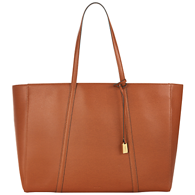 Lexington Leather Tote Bag - predominant colour: tan; occasions: casual, work, creative work; type of pattern: standard; style: tote; length: shoulder (tucks under arm); size: standard; material: leather; pattern: plain; finish: plain; season: s/s 2016
