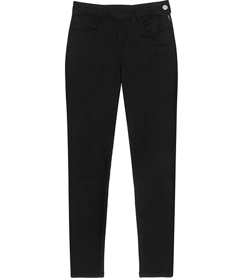 Hedy High Rise Cropped Jeans - pattern: plain; style: slim leg; waist: mid/regular rise; predominant colour: black; occasions: casual; length: calf length; fibres: cotton - stretch; texture group: denim; pattern type: fabric; season: s/s 2016; wardrobe: basic