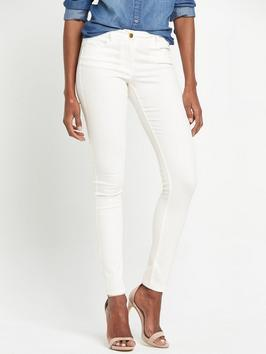 Petite Ella Super Soft Skinny Jeans - style: skinny leg; length: standard; pattern: plain; pocket detail: traditional 5 pocket; waist: mid/regular rise; predominant colour: white; occasions: casual; fibres: cotton - stretch; texture group: denim; pattern type: fabric; season: s/s 2016; wardrobe: highlight