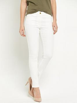 High Rise Ella Super Soft Skinny Jean - style: skinny leg; length: standard; pattern: plain; pocket detail: traditional 5 pocket; waist: mid/regular rise; predominant colour: white; occasions: casual; fibres: cotton - stretch; texture group: denim; pattern type: fabric; season: s/s 2016; wardrobe: highlight