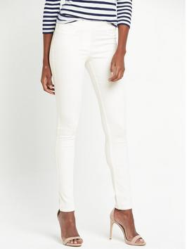 Denim Super Soft Jegging - length: standard; pattern: plain; style: jeggings; pocket detail: traditional 5 pocket; waist: mid/regular rise; predominant colour: white; occasions: casual; fibres: cotton - stretch; texture group: denim; pattern type: fabric; season: s/s 2016; wardrobe: highlight