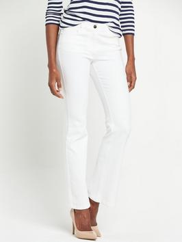 Petite High Rise 1932 Bootcut Jeans - style: bootcut; length: standard; pattern: plain; pocket detail: traditional 5 pocket; waist: mid/regular rise; predominant colour: white; occasions: casual; fibres: cotton - stretch; texture group: denim; pattern type: fabric; season: s/s 2016; wardrobe: highlight