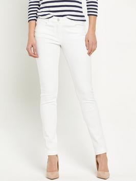 Florence Skinny Jeans - style: skinny leg; length: standard; pattern: plain; pocket detail: traditional 5 pocket; waist: mid/regular rise; predominant colour: white; occasions: casual; fibres: cotton - stretch; texture group: denim; pattern type: fabric; season: s/s 2016; wardrobe: highlight