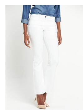 Petite 1932 Bootcut Jean - style: bootcut; length: standard; pattern: plain; pocket detail: traditional 5 pocket; waist: mid/regular rise; predominant colour: white; occasions: casual; fibres: cotton - stretch; texture group: denim; pattern type: fabric; season: s/s 2016; wardrobe: highlight