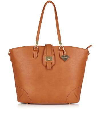 Structured Shopper Bag - predominant colour: tan; occasions: work, creative work; type of pattern: standard; style: shoulder; length: shoulder (tucks under arm); size: standard; material: faux leather; pattern: plain; finish: plain; season: s/s 2016; wardrobe: highlight