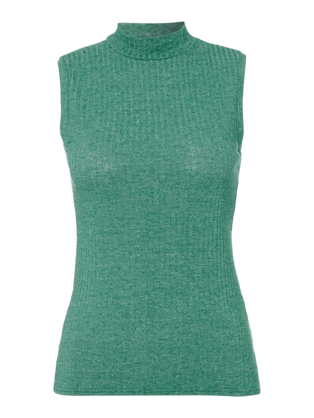 Tilly Turtle Neck Sleeveless Top, Green - pattern: plain; sleeve style: sleeveless; neckline: roll neck; predominant colour: emerald green; occasions: casual; length: standard; style: top; fibres: polyester/polyamide - stretch; fit: body skimming; sleeve length: sleeveless; texture group: jersey - clingy; pattern type: fabric; season: s/s 2016; wardrobe: highlight