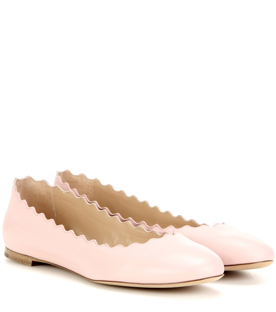 Lauren Leather Ballerinas - predominant colour: blush; occasions: casual, creative work; material: leather; heel height: flat; toe: round toe; style: ballerinas / pumps; finish: plain; pattern: plain; season: s/s 2016; wardrobe: basic