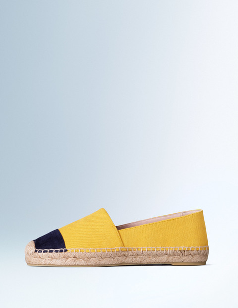 Betty Espadrille Sunflower Women, Sunflower - secondary colour: navy; predominant colour: yellow; occasions: casual, creative work; material: suede; heel height: flat; toe: round toe; finish: plain; pattern: colourblock; style: espadrilles; season: s/s 2016; wardrobe: highlight