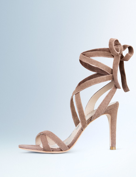 Hayley Heel Fawn Women, Fawn - predominant colour: stone; occasions: evening, occasion; material: suede; heel height: high; ankle detail: ankle strap; heel: stiletto; toe: open toe/peeptoe; style: strappy; finish: plain; pattern: plain; season: s/s 2016; wardrobe: event