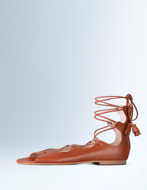 Freida Lace Up Sandal Tan Women, Tan - predominant colour: tan; occasions: casual, creative work; material: leather; heel height: flat; ankle detail: ankle tie; heel: standard; toe: open toe/peeptoe; style: strappy; finish: plain; pattern: plain; season: s/s 2016; wardrobe: highlight