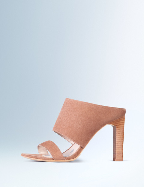 Jasmine Heel Dark Caramel Women, Dark Caramel - predominant colour: camel; occasions: evening, holiday; material: suede; heel height: high; heel: standard; toe: open toe/peeptoe; style: slides; finish: plain; pattern: plain; season: s/s 2016; wardrobe: highlight