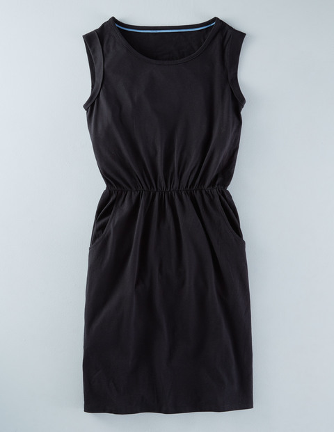 Blackberry Summer Dress Black Women, Black - style: shift; length: mini; neckline: round neck; pattern: plain; sleeve style: sleeveless; predominant colour: black; occasions: casual; fit: body skimming; fibres: hessian - 100%; sleeve length: sleeveless; pattern type: fabric; texture group: jersey - stretchy/drapey; season: s/s 2016; wardrobe: basic