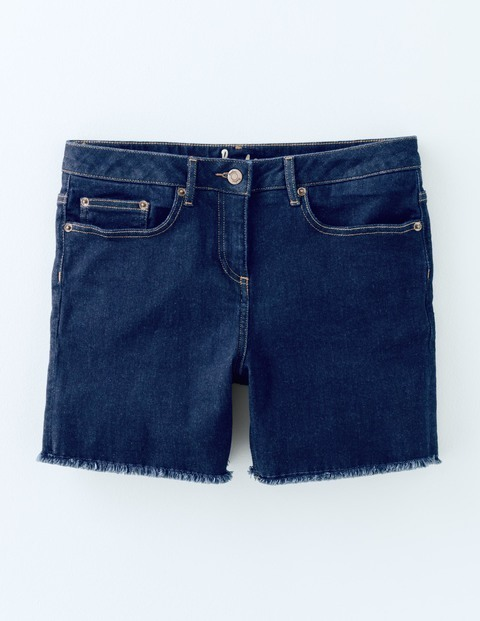 Denim Shorts Indigo Women, Indigo - pattern: plain; pocket detail: traditional 5 pocket; waist: mid/regular rise; predominant colour: navy; occasions: casual, holiday; fibres: cotton - stretch; texture group: denim; pattern type: fabric; season: s/s 2016; style: denim; length: short shorts; fit: slim leg; wardrobe: holiday