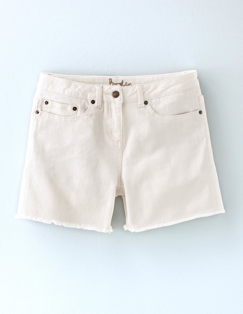 Denim Shorts Ecru Women, Ecru - pattern: plain; pocket detail: traditional 5 pocket; waist: mid/regular rise; predominant colour: white; occasions: casual; fibres: cotton - stretch; texture group: denim; pattern type: fabric; season: s/s 2016; wardrobe: basic; style: shorts; length: short shorts; fit: slim leg