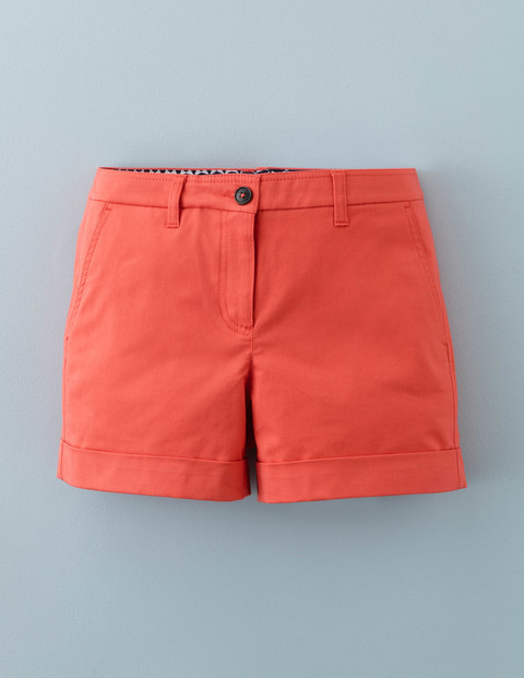 Chino Shorts Braid Women, Braid - pattern: plain; waist: mid/regular rise; predominant colour: bright orange; occasions: casual, holiday; fibres: cotton - 100%; texture group: cotton feel fabrics; pattern type: fabric; season: s/s 2016; style: shorts; length: short shorts; fit: slim leg