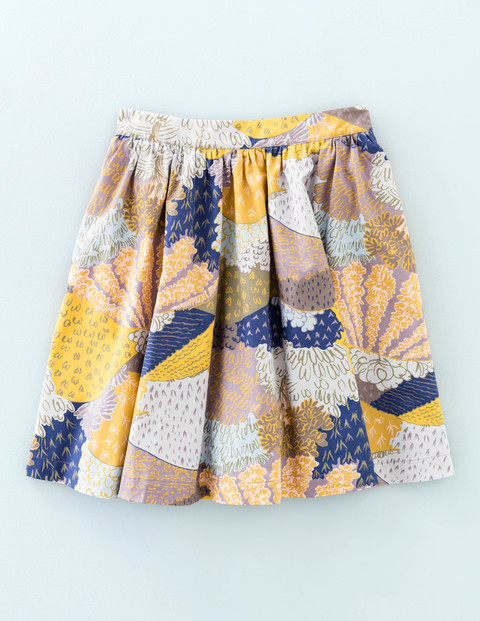 Edie Skirt Multi Women, Multi - length: mid thigh; style: full/prom skirt; fit: loose/voluminous; waist: mid/regular rise; secondary colour: navy; predominant colour: yellow; occasions: casual; fibres: cotton - 100%; pattern type: fabric; pattern: florals; texture group: woven light midweight; multicoloured: multicoloured; season: s/s 2016