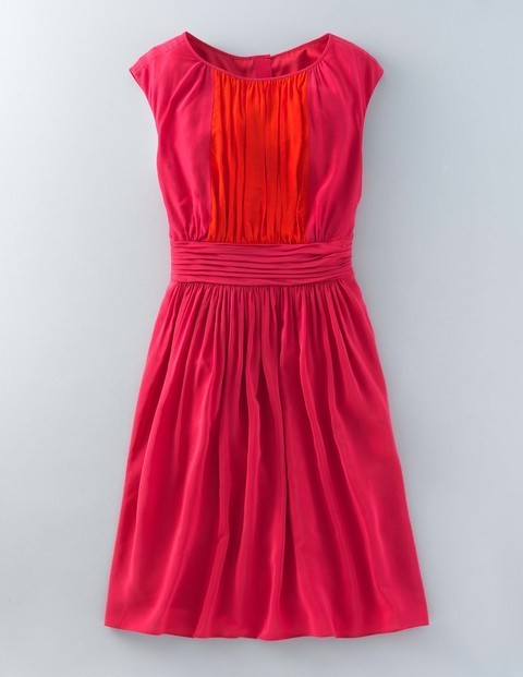 Selina Dress Amaranth Red Pop Women, Amaranth Red Pop - length: mid thigh; sleeve style: capped; pattern: plain; predominant colour: hot pink; secondary colour: bright orange; occasions: evening; fit: fitted at waist & bust; style: fit & flare; fibres: viscose/rayon - 100%; neckline: crew; sleeve length: short sleeve; texture group: crepes; pattern type: fabric; multicoloured: multicoloured; season: s/s 2016; wardrobe: event