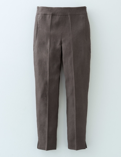 Florence Trouser Pewter Women, Pewter - pattern: plain; waist: mid/regular rise; predominant colour: charcoal; occasions: casual, creative work; length: ankle length; fibres: linen - mix; texture group: linen; fit: straight leg; pattern type: fabric; style: standard; season: s/s 2016; wardrobe: basic