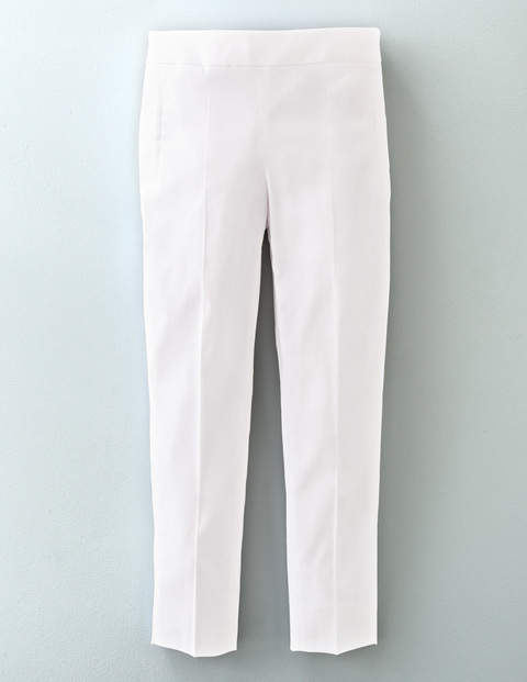 Florence Trouser White Women, White - length: standard; pattern: plain; waist: mid/regular rise; predominant colour: white; fibres: linen - mix; fit: straight leg; pattern type: fabric; texture group: woven light midweight; style: standard; occasions: creative work; season: s/s 2016; wardrobe: basic