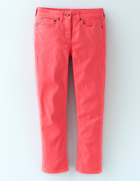 Cropped Jean Coral Reef Women, Coral Reef - pattern: plain; pocket detail: traditional 5 pocket; style: slim leg; waist: mid/regular rise; predominant colour: pink; occasions: casual; length: calf length; fibres: cotton - stretch; texture group: denim; pattern type: fabric; season: s/s 2016; wardrobe: highlight