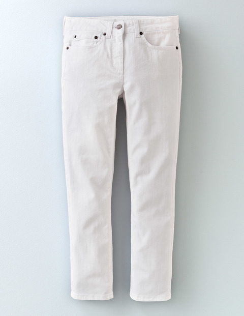 Cropped Jean White Women, White - style: straight leg; length: standard; pattern: plain; pocket detail: traditional 5 pocket; waist: mid/regular rise; predominant colour: white; occasions: casual; fibres: cotton - stretch; texture group: denim; pattern type: fabric; season: s/s 2016; wardrobe: highlight