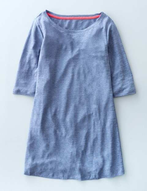 Swing Linen Top Iris Women, Iris - neckline: round neck; pattern: plain; predominant colour: denim; occasions: casual; length: standard; style: top; fibres: linen - 100%; fit: body skimming; sleeve length: half sleeve; sleeve style: standard; texture group: linen; pattern type: fabric; season: s/s 2016; wardrobe: highlight