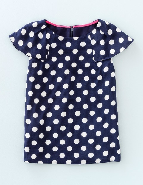 Dot Top Navy/Ivory Dot Women, Navy/Ivory Dot - neckline: round neck; sleeve style: capped; style: t-shirt; pattern: polka dot; secondary colour: white; predominant colour: navy; occasions: casual; length: standard; fibres: viscose/rayon - 100%; fit: straight cut; sleeve length: short sleeve; texture group: crepes; pattern type: fabric; pattern size: big & busy (top); season: s/s 2016; wardrobe: highlight