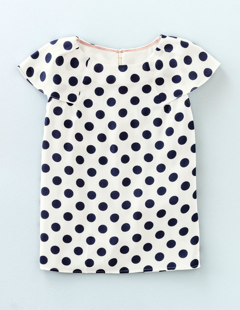 Dot Top Ivory/Navy Dot Women, Ivory/Navy Dot - neckline: round neck; sleeve style: capped; pattern: polka dot; predominant colour: ivory/cream; secondary colour: black; occasions: casual; length: standard; style: top; fibres: viscose/rayon - 100%; fit: straight cut; sleeve length: short sleeve; trends: monochrome; pattern type: fabric; texture group: other - light to midweight; pattern size: big & busy (top); season: s/s 2016; wardrobe: highlight