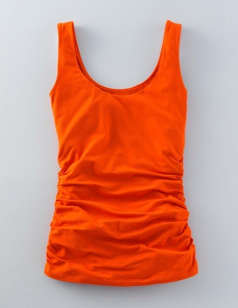 Ruched Scoop Neck Vest Tulip Women, Tulip - sleeve style: standard vest straps/shoulder straps; pattern: plain; style: vest top; predominant colour: bright orange; occasions: casual; length: standard; neckline: scoop; fibres: cotton - stretch; fit: body skimming; sleeve length: sleeveless; texture group: jersey - clingy; pattern type: fabric; season: s/s 2016; wardrobe: highlight