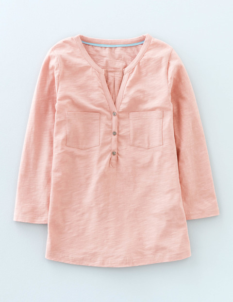 Easy Jersey Shirt Rose Quartz Women, Rose Quartz - neckline: v-neck; pattern: plain; style: shirt; predominant colour: pink; occasions: casual; length: standard; fibres: cotton - 100%; fit: body skimming; sleeve length: 3/4 length; sleeve style: standard; bust detail: bulky details at bust; pattern type: fabric; texture group: jersey - stretchy/drapey; season: s/s 2016; wardrobe: highlight