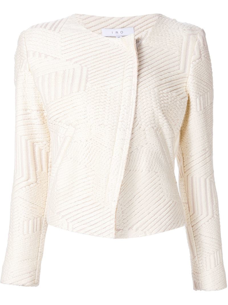 Gilded Textured Jacket, Women's, Nude/Neutrals - pattern: plain; style: biker; collar: asymmetric biker; predominant colour: ivory/cream; secondary colour: gold; occasions: casual, evening, occasion; length: standard; fit: tailored/fitted; fibres: polyester/polyamide - stretch; sleeve length: long sleeve; sleeve style: standard; collar break: high/illusion of break when open; pattern type: fabric; texture group: tweed - light/midweight; multicoloured: multicoloured; season: s/s 2016; wardrobe: highlight
