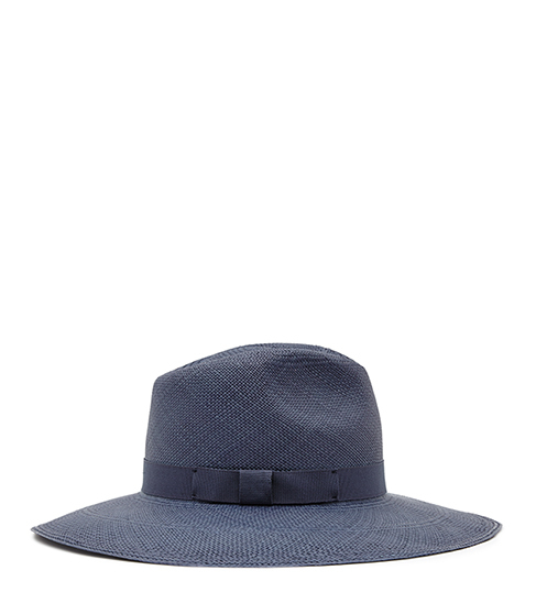 Belardo Christys Wide Brim Hat - predominant colour: denim; occasions: casual, holiday; type of pattern: standard; embellishment: ribbon; style: wide brimmed; size: standard; material: felt; pattern: plain; season: s/s 2016; wardrobe: holiday