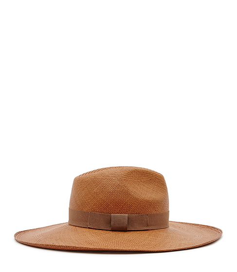 Lovato Christys Wide Brim Hat - predominant colour: camel; occasions: casual, holiday; type of pattern: standard; embellishment: ribbon; style: wide brimmed; size: standard; material: fabric; pattern: plain; season: s/s 2016; wardrobe: holiday
